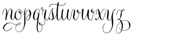 Gratitude Script Pro Font LOWERCASE