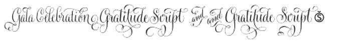 Gratitude Script Words Font OTHER CHARS