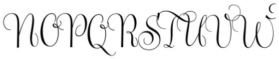 Gratitude Smooth Script Pro Font UPPERCASE