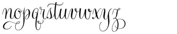 Gratitude Smooth Script Pro Font LOWERCASE