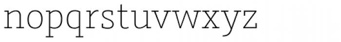 Graublau Slab ExtraLight Font LOWERCASE