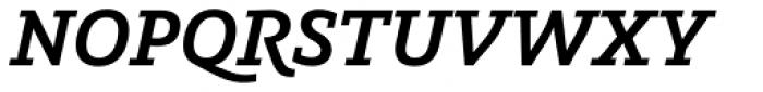 Graublau Slab SemiBold Italic Font UPPERCASE