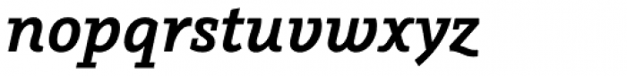 Graublau Slab SemiBold Italic Font LOWERCASE