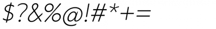 Grava Thin Oblique Font OTHER CHARS