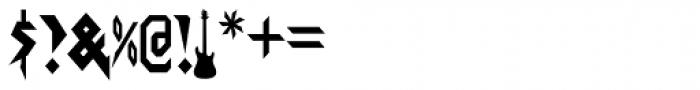 Graveblade Font OTHER CHARS