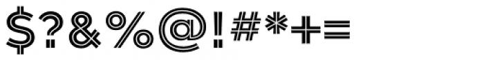 Gravesend Sans Inline Font OTHER CHARS