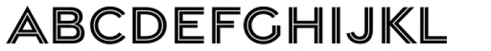 Gravesend Sans Inline Font UPPERCASE
