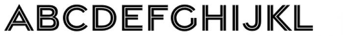 Gravesend Sans Inline Font LOWERCASE