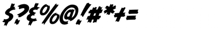 Graveyard Smash Body Italic Font OTHER CHARS