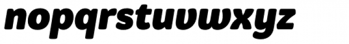 Graviola Soft Black Italic Font LOWERCASE