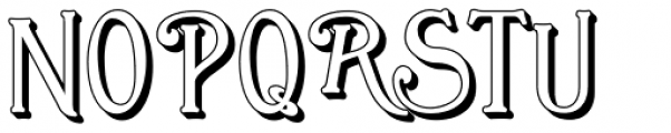 Great Bromwich Shadowed Font UPPERCASE