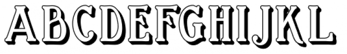 Great Bromwich Shadowed Font LOWERCASE