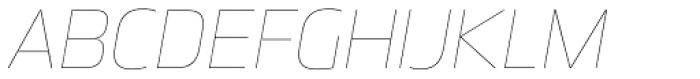 Great Escape UltraLight Italic Font UPPERCASE