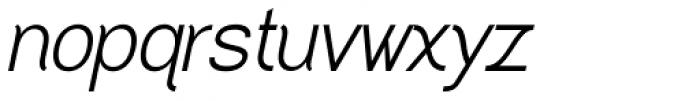 Greback Grotesque Medium Italic Font LOWERCASE