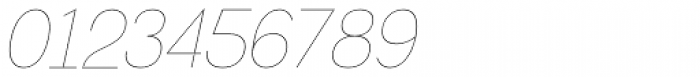 Greback Grotesque Thin Italic Font OTHER CHARS