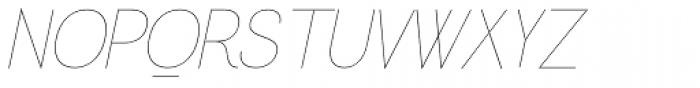 Greback Grotesque Thin Italic Font UPPERCASE