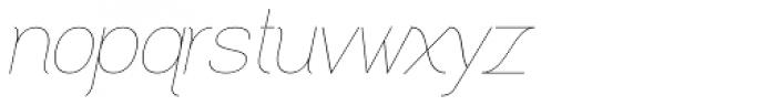 Greback Grotesque Thin Italic Font LOWERCASE