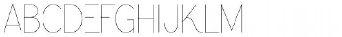 Greback Grotesque Thin Font UPPERCASE