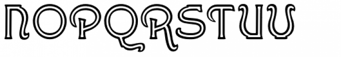 Greene And Hollins No2 Font UPPERCASE