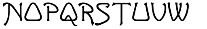 Greeting Monotone Font UPPERCASE