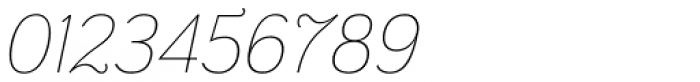 Grenale Nor Thin Italic Font OTHER CHARS