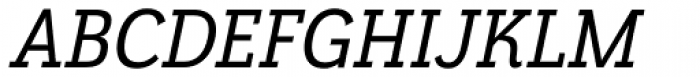 Grenale Slab Con Demi Italic Font UPPERCASE
