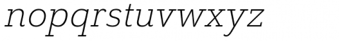 Grenale Slab Ext Light Italic Font LOWERCASE