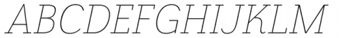 Grenale Slab Ext Thin Italic Font UPPERCASE