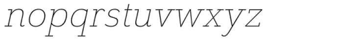 Grenale Slab Ext Thin Italic Font LOWERCASE