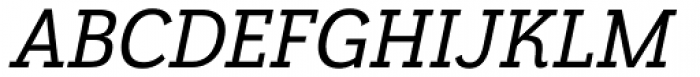 Grenale Slab Nor Demi Italic Font UPPERCASE