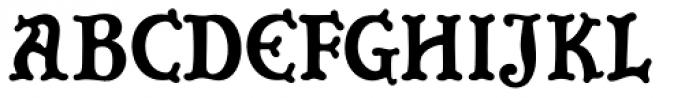 Grendel Regular Font UPPERCASE