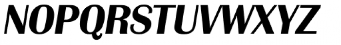 Grenoble Serial Bold Italic Font UPPERCASE