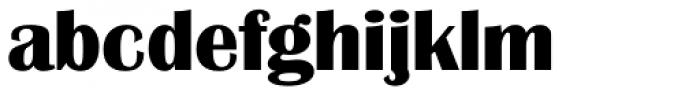 Grenoble Serial ExtraBold Font LOWERCASE