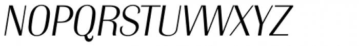 Grenoble Serial ExtraLight Italic Font UPPERCASE