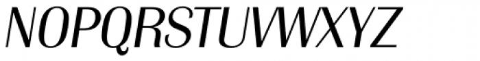 Grenoble Serial Light Italic Font UPPERCASE