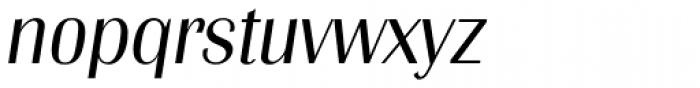 Grenoble Serial Light Italic Font LOWERCASE