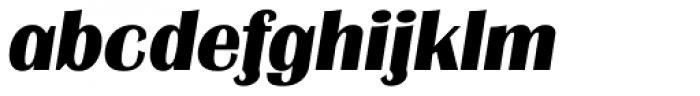 Grenoble TS ExtraBold Italic Font LOWERCASE