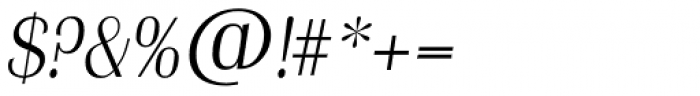 Grenoble TS ExtraLight Italic Font OTHER CHARS