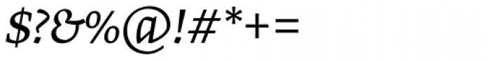 Greta Text Pro Light Italic Font OTHER CHARS
