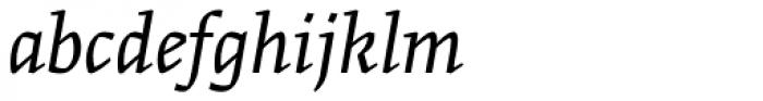 Greta Text Pro Light Italic Font LOWERCASE