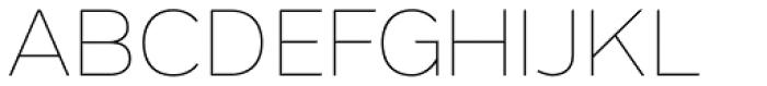 Grey Sans Thin Font UPPERCASE