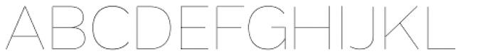 Grey Sans UltraThin Font UPPERCASE