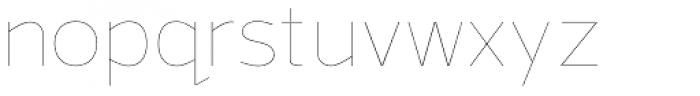 Grey Sans UltraThin Font LOWERCASE