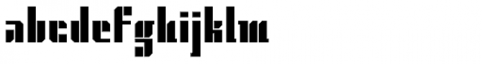 Gridiot Chunky Font LOWERCASE