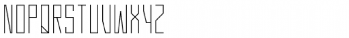 Gridlock Light Font UPPERCASE