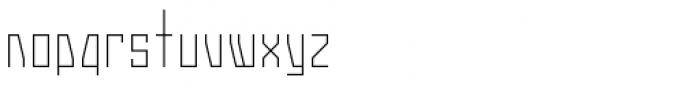 Gridlock Light Font LOWERCASE