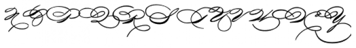 Griffith Initials Font LOWERCASE