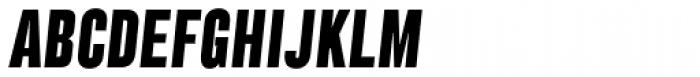 Grillmaster Condensed Extra Bold Italic Font UPPERCASE