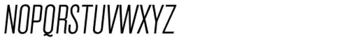 Grillmaster Condensed Extra Light Italic Font UPPERCASE
