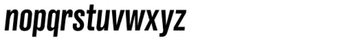Grillmaster Condensed Medium Italic Font LOWERCASE